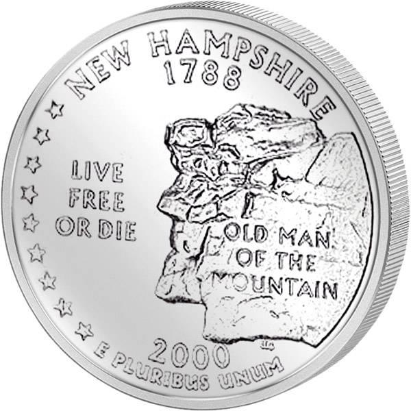 Quarter Dollar USA New Hampshire 2000