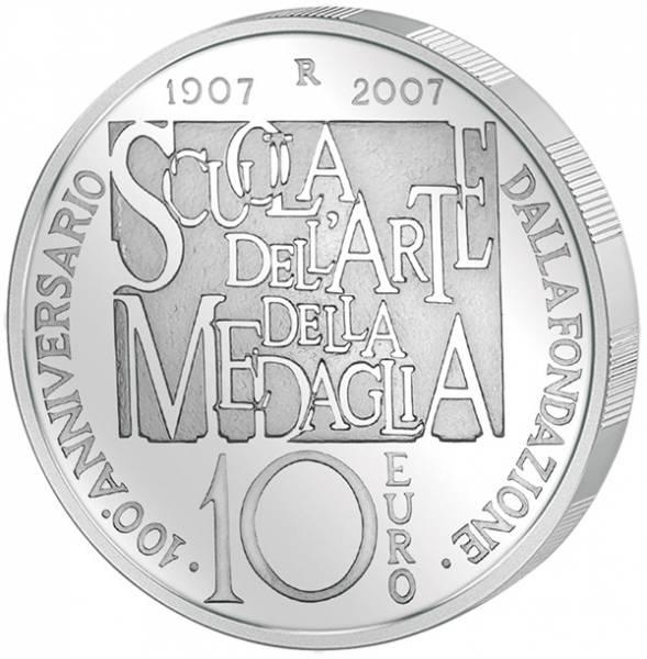 10 Euro Italien 100 Jahre Kunstschule für Medallienherstellung 2007
