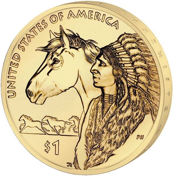 1 Dollar USA Sacagawea Handelswege im 17. Jahrhundert 2012 Stempelglanz