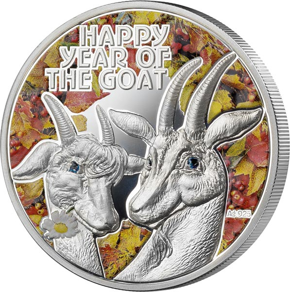 1 Dollar Niue Happy Year of the Goat 2015