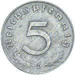 5 Reichspfennig Ohne Hakenkreuz 1947-48 ss-vz