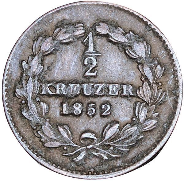 1/2 Kreuzer Baden Großherzog Leopold
