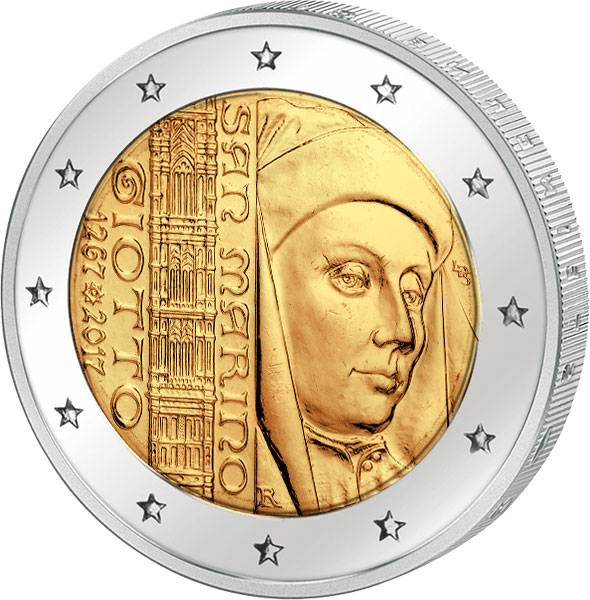 2 Euro San Marino 750. Geburtstag von Giotto 2017
