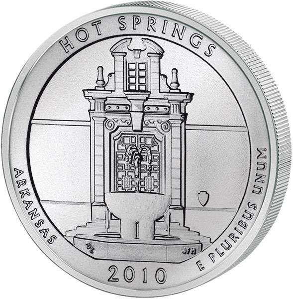 Quarter Dollar USA Arkansas Hot Springs 2010