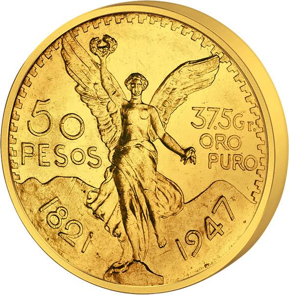 50 Pesos Mexiko Siegesgöttin 1921-1972 Stempelglanz