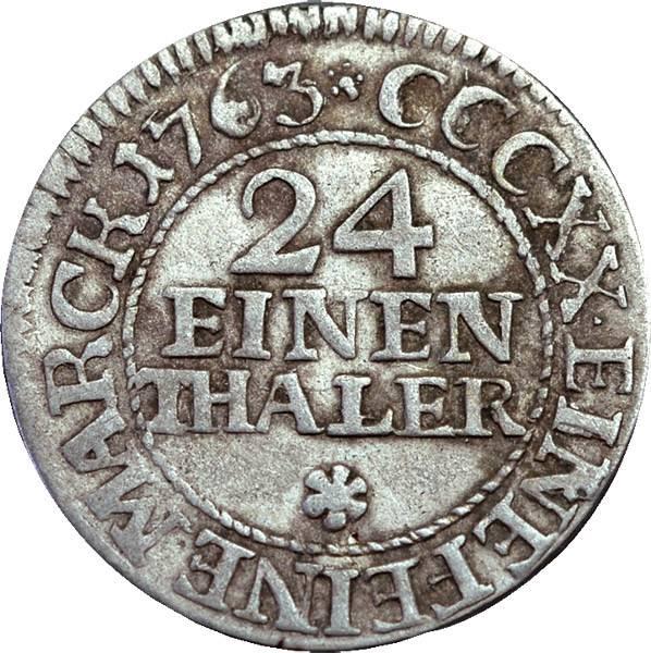 1/24 Taler Sachsen Kurfürst Friedrich August II.
