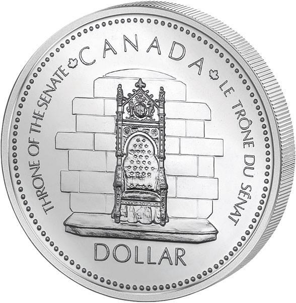 1 Dollar Kanada Silbernes Thronjubiläum Queen Elizabeth II. 1977   Prooflike