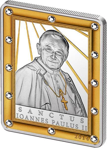 5 Dollars Cook-Inseln Heiligsprechung von Johannes Paul II. 2014 Polierte Platte