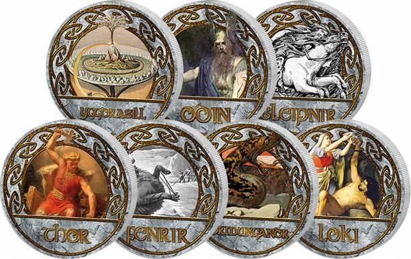 7 x 50 Penniä Finnland Nordische Mythologie