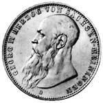 3 Mark Sachsen Meiningen Georg II. 1908-1913 ss-vz