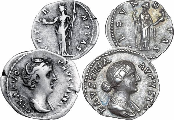2er-Set Denar Rom Kaiser Faustina sehr schön