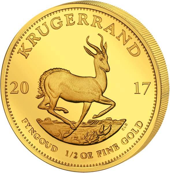 1/2 Unze Gold Südafrika Krügerrand 2017