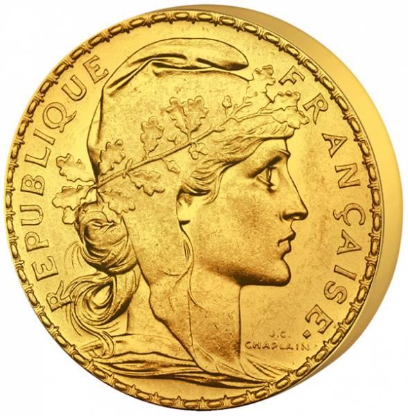 20 Francs Frankreich Marianne Gallischer Hahn