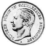 2 Mark Schwarzburg Rudolstadt Günther Viktor 1898 Sehr schön