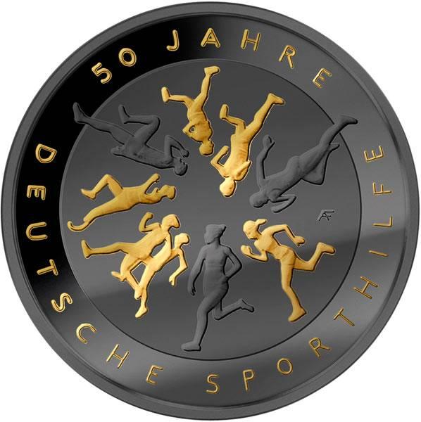 20 Euro BRD 50 Jahre Deutsche Sporthilfe Golden Enigma 2017