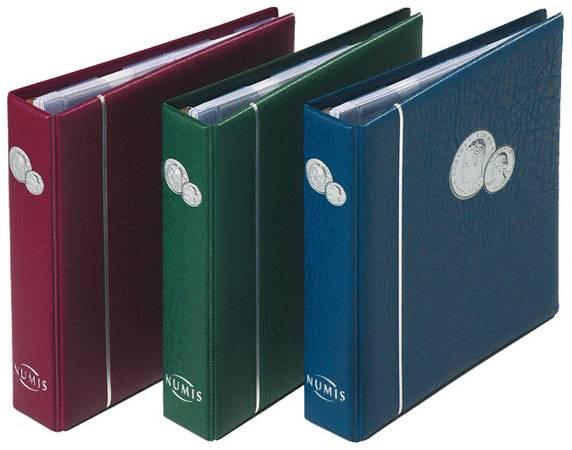 Münzenalbum inkl. 5 Hüllen Album in der Farbe Blau
