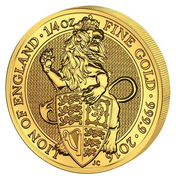 1/4 Unze Gold Großbritannien Der Englische Löwe