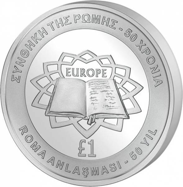 1 Pfund Zypern Römische Verträge 2007 prägefrisch