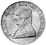 Taler Ausbeutekonventionstaler Friedrich August 1824 Vorzüglich