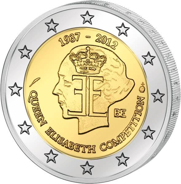 2 Euro Belgien 75 Jahre Königin-Elisabeth-Musikwettbewerb 2012 prägefrisch