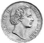 Taler Vereinstaler Ludwig II. 1871  Vorzüglich