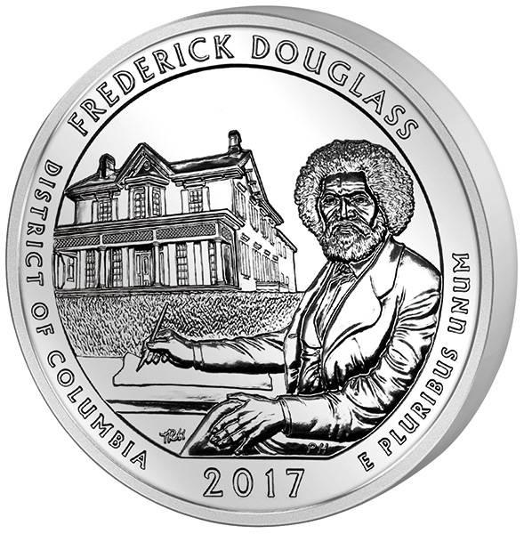 Quarter Dollar 25 Cents USA Columbia Frederick Douglass National Historic Site 2017