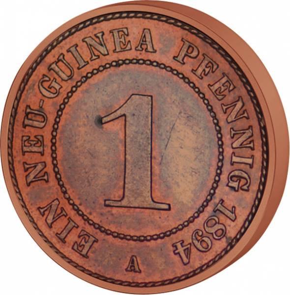 1 Pfennig Deutsch-Neuguinea Palmzweige 1894 A Sehr schön