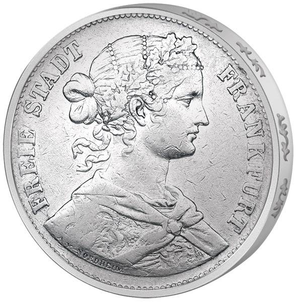 Taler Frankfurt Vereinstaler Francofurtia 1859-1860 Sehr schön