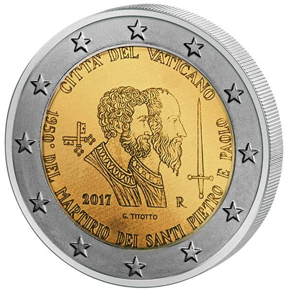 2 Euro Vatikan Sankt Peter und Sankt Paulus 2017