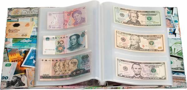 Banknotenalbum Bills mit 100 fest eingebundenen Hüllen