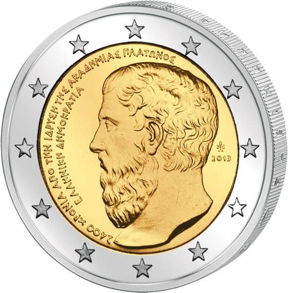 2 Euro Griechenland Platon Akademie 2013 prägefrisch
