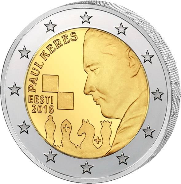 2 Euro Estland 100. Geburtstag Paul Keres 2016 prägefrisch