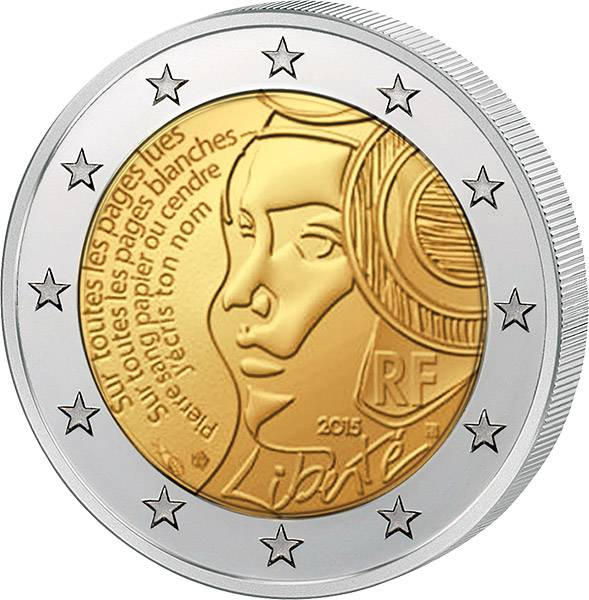 2 Euro Frankreich Föderationsfest 2015 prägefrisch