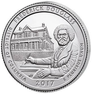 Quarter Dollar 25 Cents USA Columbia Frederick Douglass