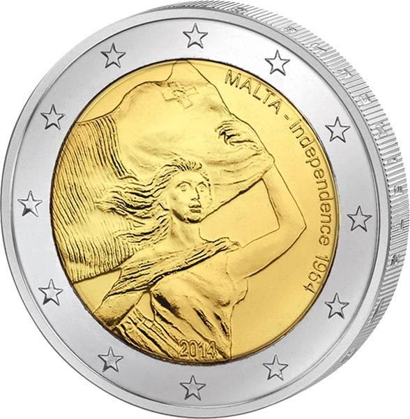 2 Euro Malta Unabhängigkeit von Großbritannien 2014 prägefrisch