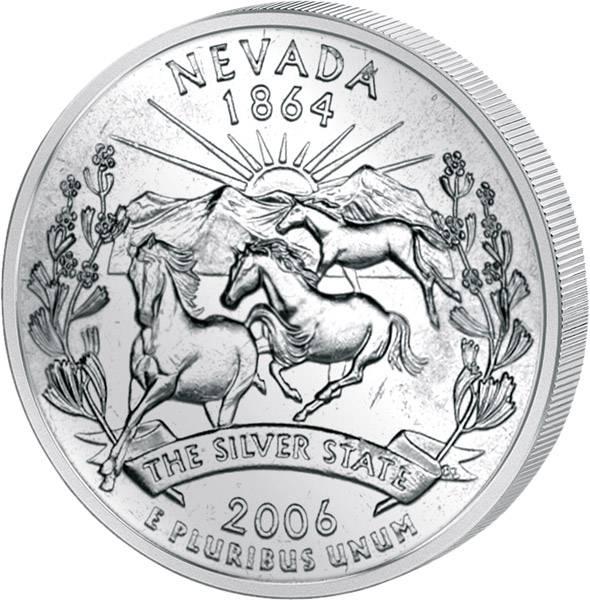 Quarter Dollar USA Nevada 2006