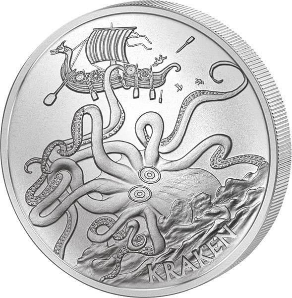 1 Unze Gedenkprägung Kraken