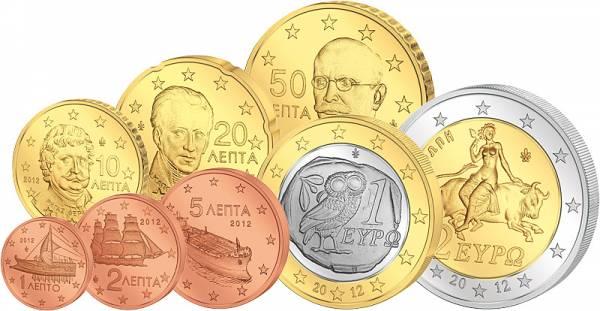 Euro-Kursmünzensatz Griechland Stempelglanz
