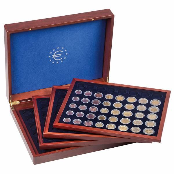 Münzkassette für 24 Euro-Kursmünzensätze in Kapseln