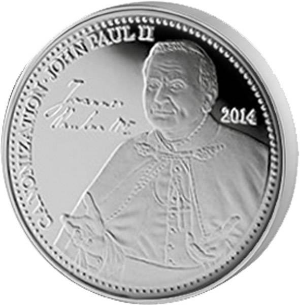 1 Dollar Samoa Papst Johannes Paul 2014