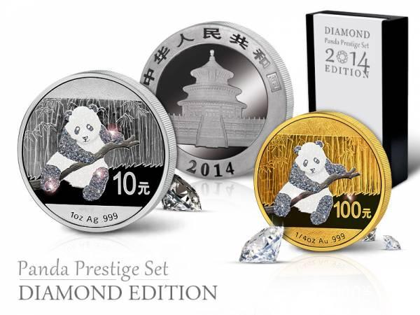 Panda Prestige Set 2014 China Stempelglanz/Polierte Platte