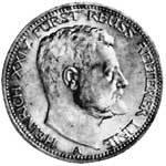 3 Mark Reuß Greiz Heinrich XXIV. 1909 ss-vz