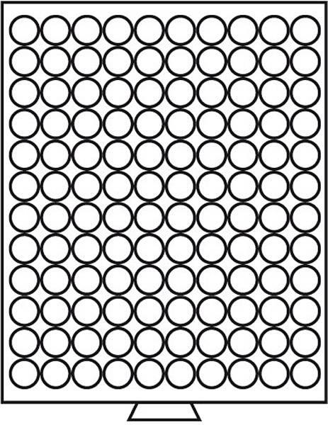 Münzbox mit 120 Fächern