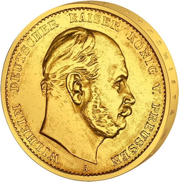 10 Mark Preußen Kaiser Wilhelm I. 1872-1873 Sehr schön