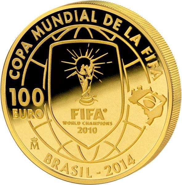100 Euro Spanien FIFA-Fußball-WM 2014 in Brasilien 2013