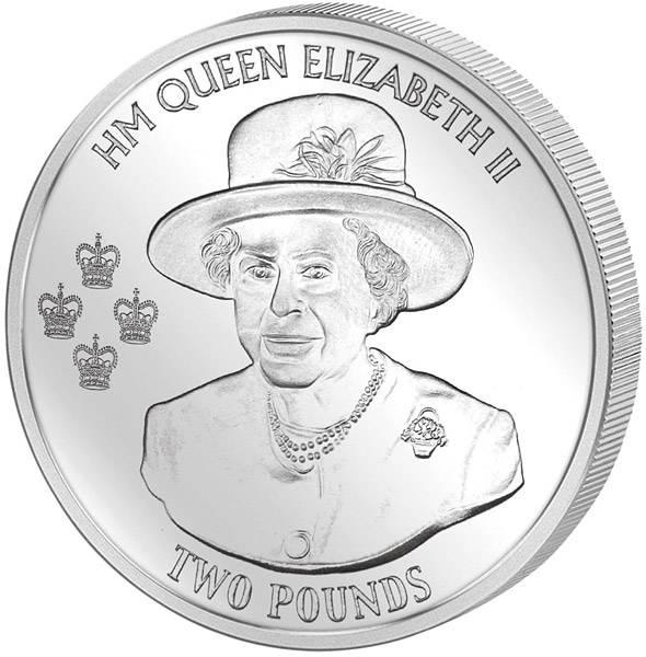 2 Pounds Britisches Antarktis-Territorium 90. Geburtstag von Königin Elizabeth II.