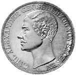 Taler Doppeltaler Carl Alexander 1855 Vorzüglich