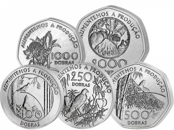 100 - 2.000 Dobras St. Thomas und  Prinzeninsel 1997