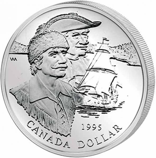 1 Dollar Kanada 325 Jahre Hudson's Bay Company