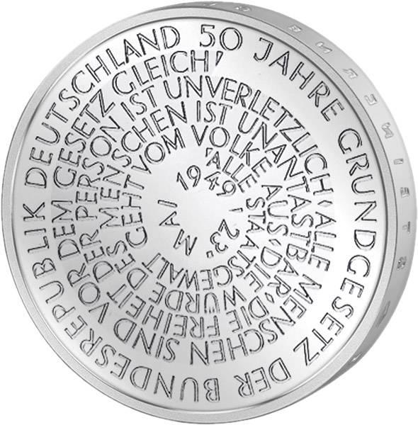 10 DM Münze Silber 50 Jahre Grundgesetz